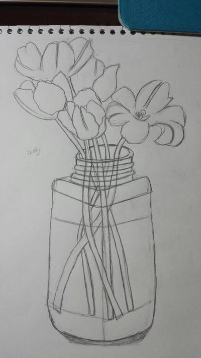 Flowers in a pot  by otakumanga123