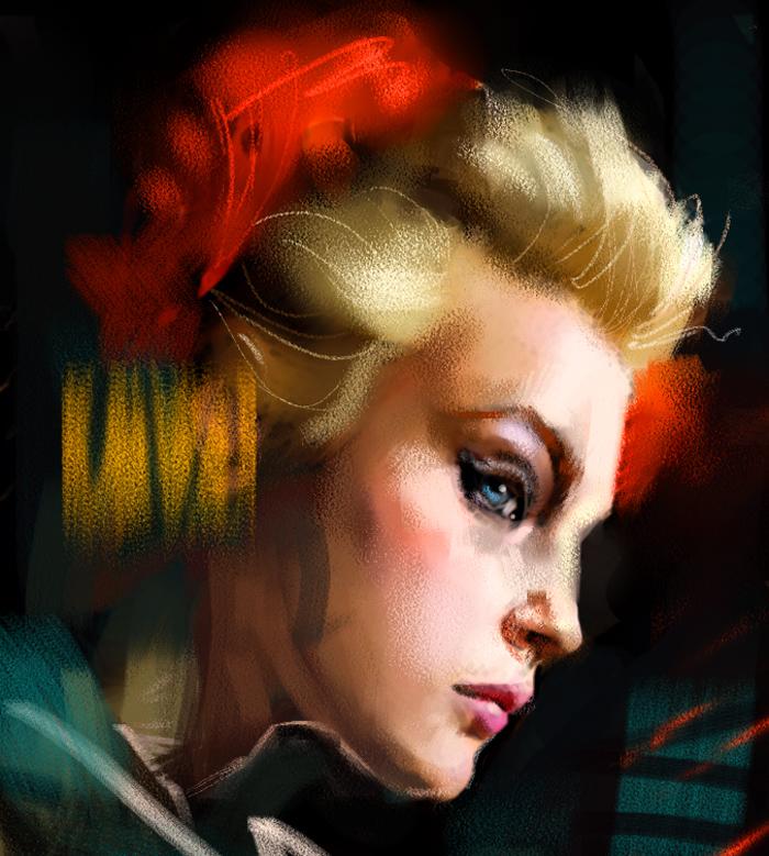 Digital Portrait sketch4 by Cok3ster