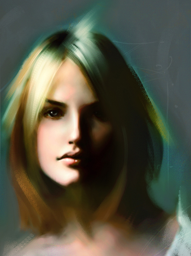 digital portrait sketch by Cok3ster