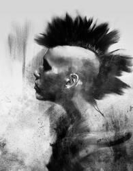 Digital portrait sketch3 by Cok3ster