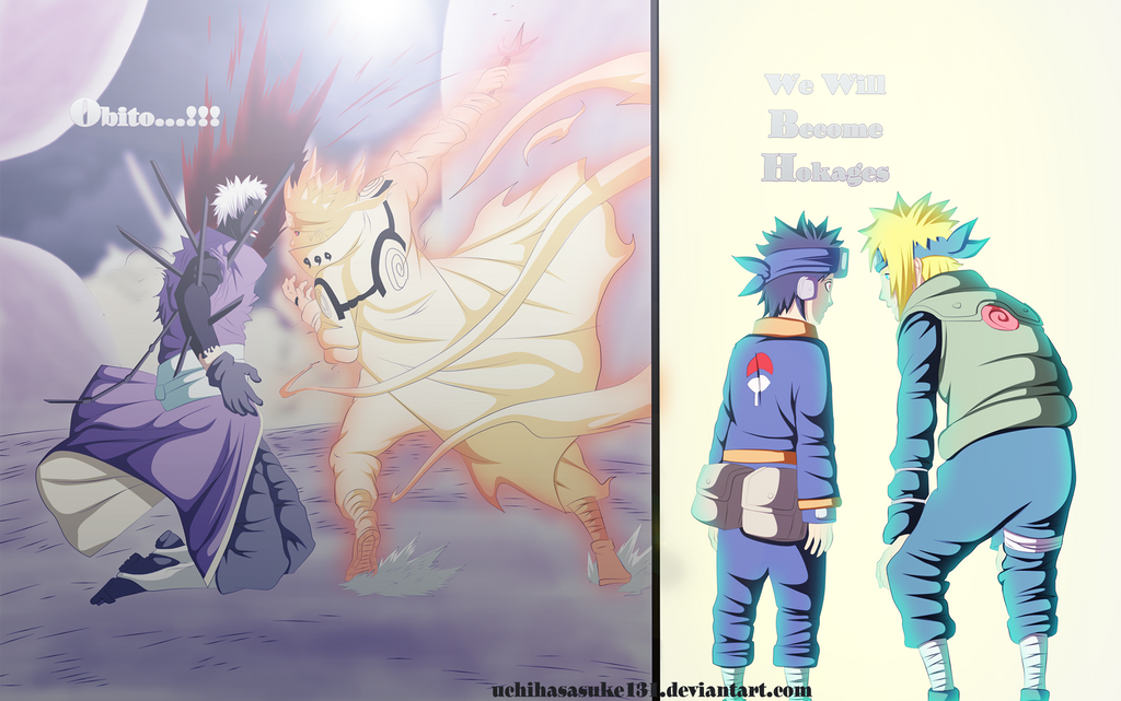 Minato vs obito naruto 637 coloring by GrayDous on
