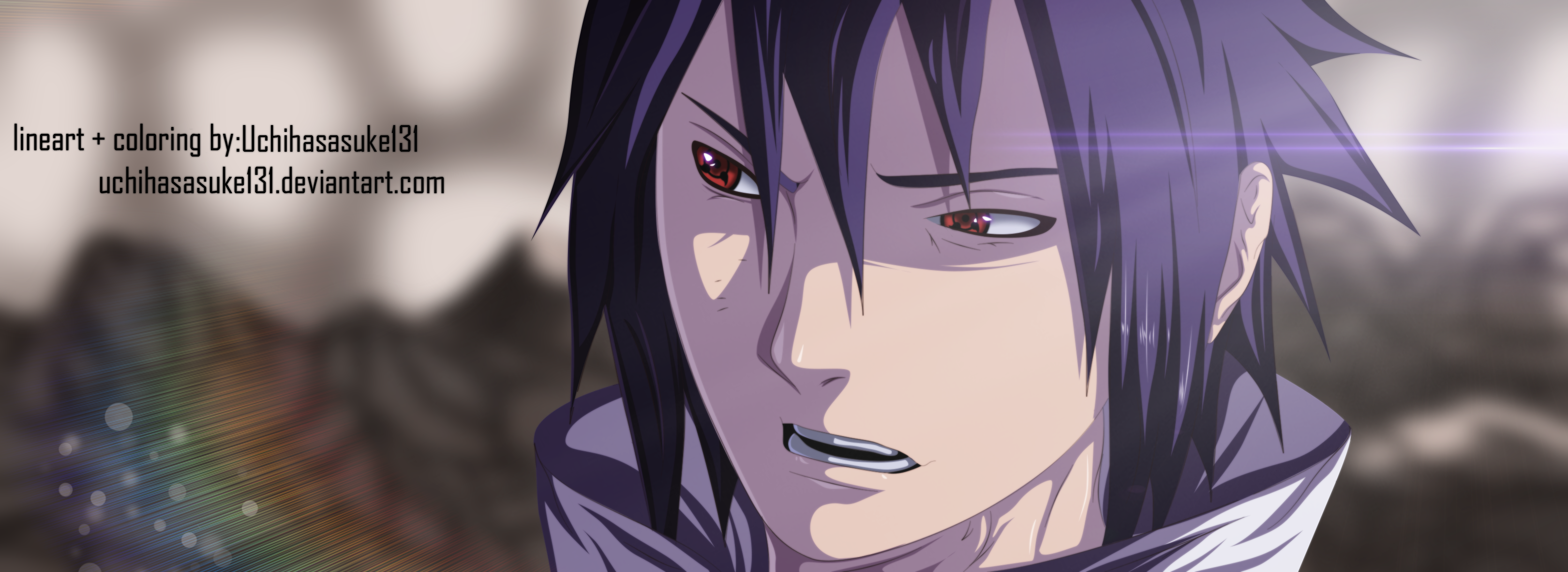Naruto 644 - Sasuke Coloring by Gray-Dous