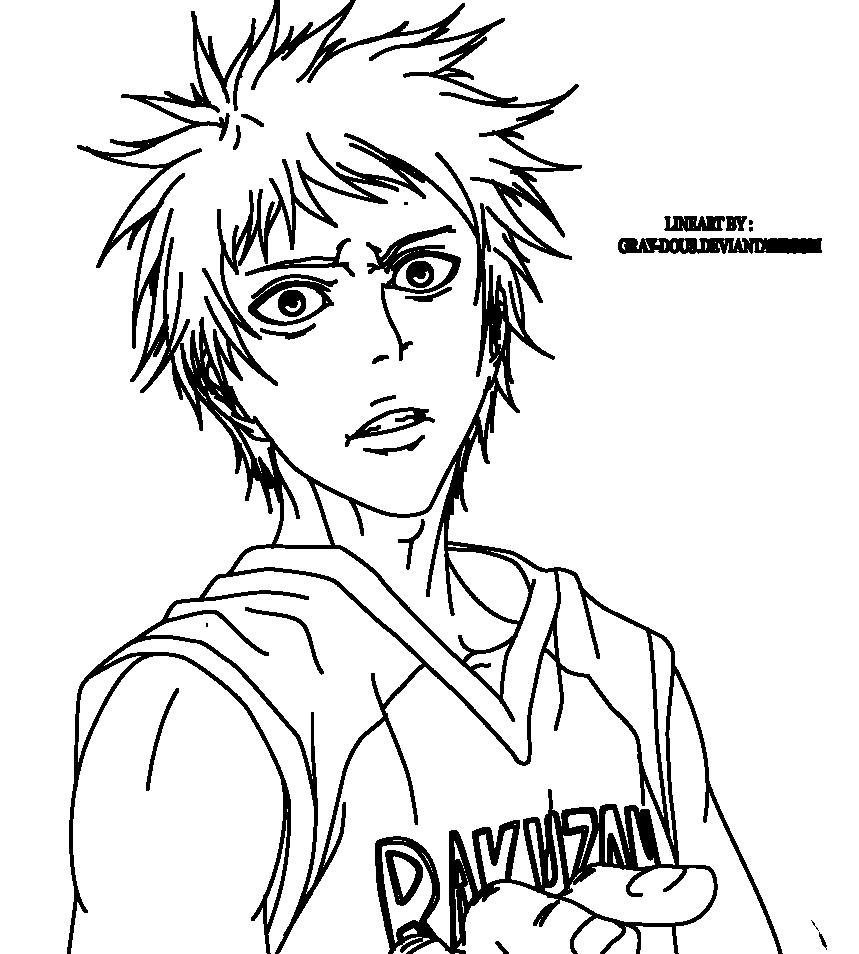 Kuroko No Basket Lineart : Akashi seijuro kurokonobasket ch lineart by gray