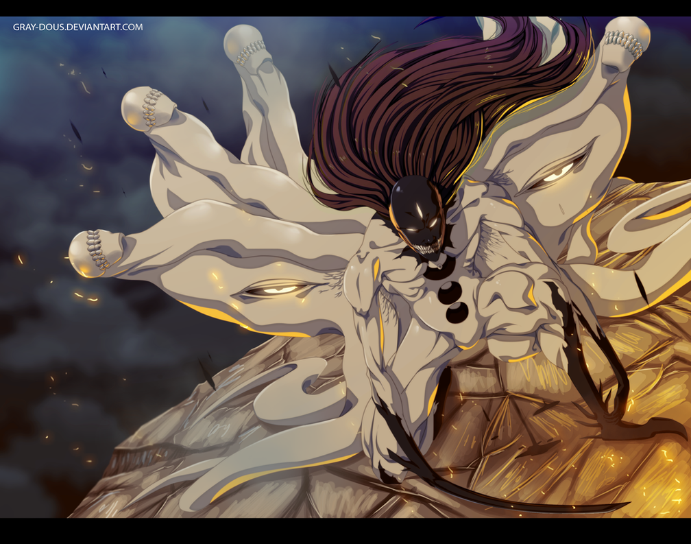 Hollow Sosuke Aizen - Digital Painting by Gray-Dous on ...  Hollow Sosuke A...