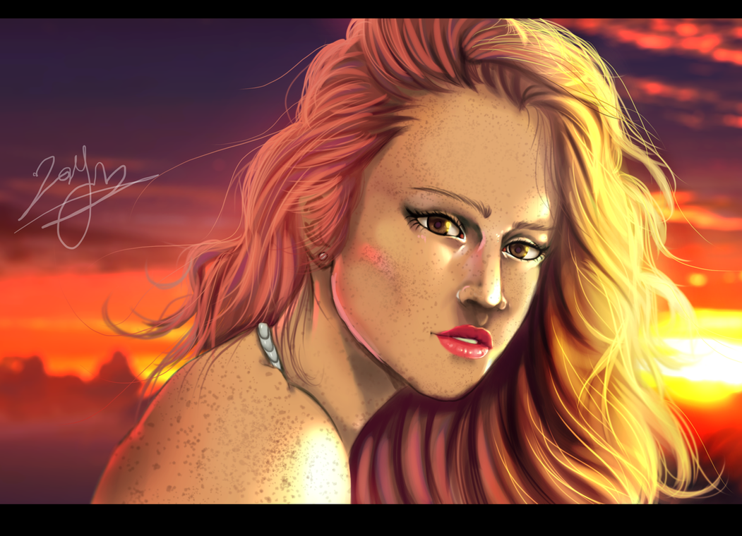 Portrait - Digital Drawing by Gray-Dous