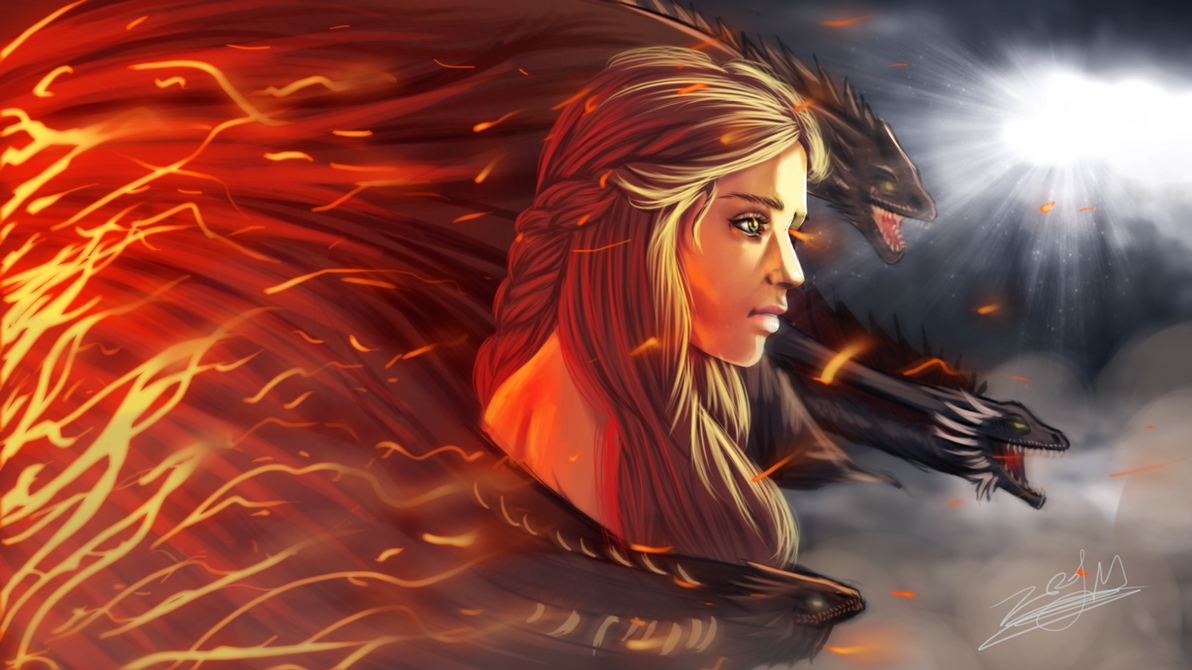 Daenerys Targaryen - Digital Art by Gray-Dous
