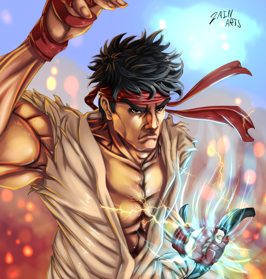 Ryu - Digital Art by Gray-Dous