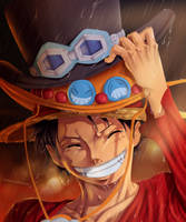 Monkey D. Luffy - Digital Art by Gray-Dous