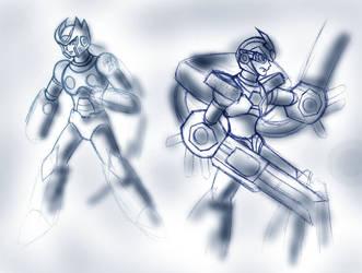 MMX old sketches 2 by Tekk0