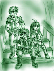 Blade with Marlon and Sakura by Tekk0