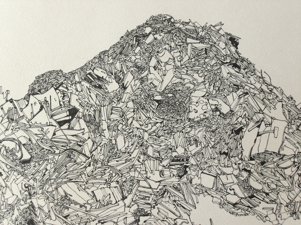 A Drawing Of A Landfill Area Stock Photo 113941048 ... |Simple Landfill Diagram