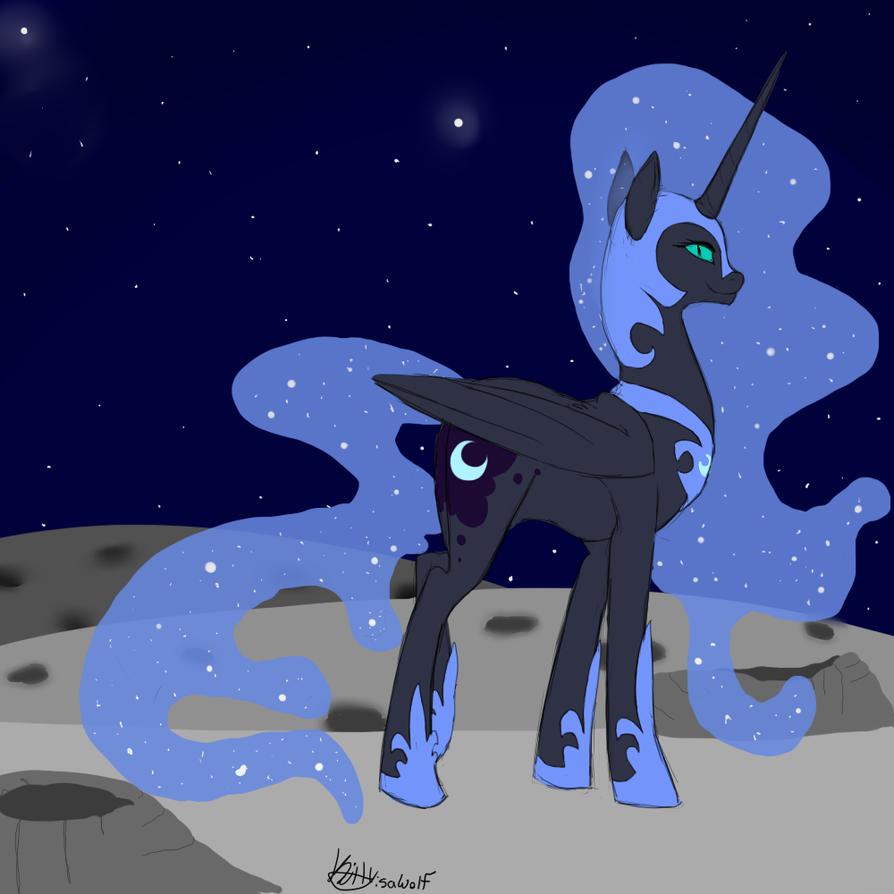 NightMare Moon by KittyIsAWolf