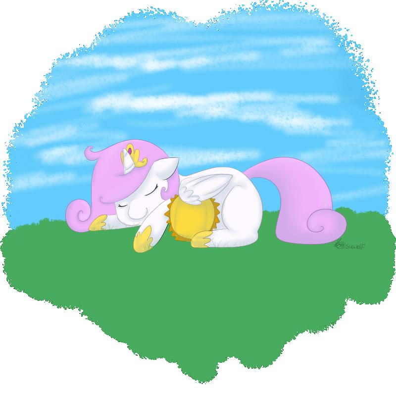 Filly Celestia by KittyIsAWolf