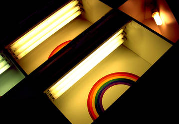nothing but rainbows lights by 2d3x