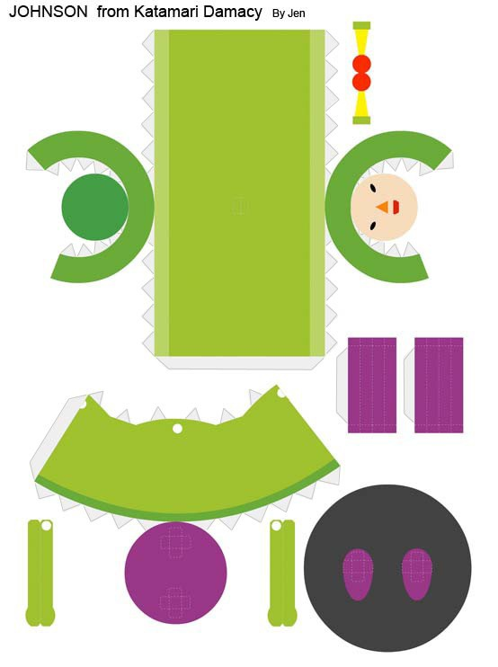 90 Easy Papercraft Templates Johnson Katamari Damacy Temp By