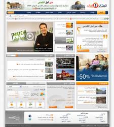 Website for TV Chanel -Arabic-