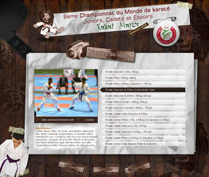World Jr Karate Championships by blueburn