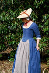 Blue Robe a l'Anglaise Front