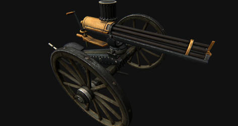 1860 gatling gun by SrnX