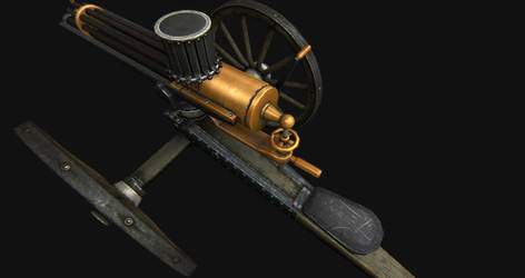 1860 gatling gun view 2 by SrnX