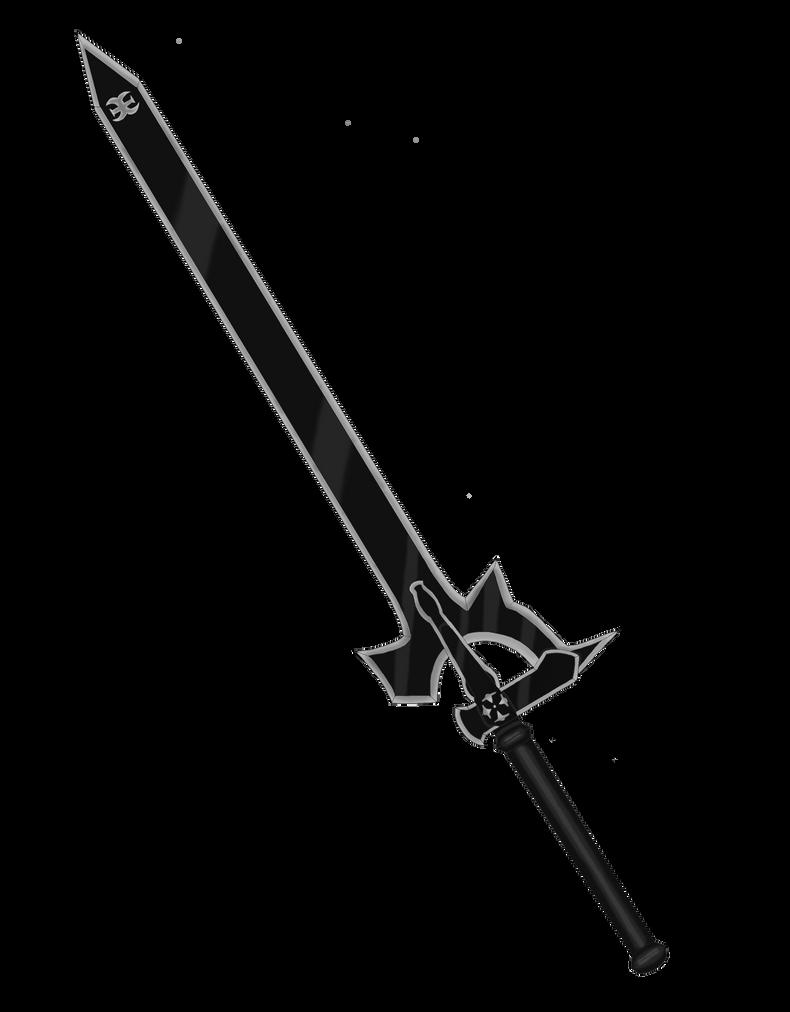Natsuki ID  Kirito_sword___elucidator_colored_by_cyclesofshadows-d5m2iey