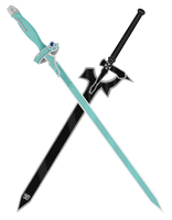 Asuna and Kirito Sword - Lembent Light+Elucidator by CyclesofShadows