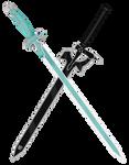 Asuna and Kirito Sword - Lembent Light+Elucidator