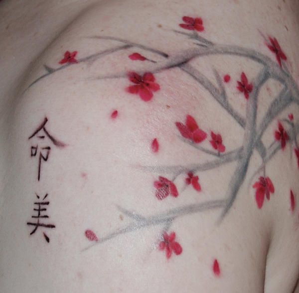 Cherry Blossom Tattoo by Phoenix-Cry