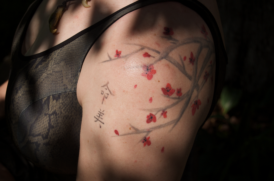 Cherry-Blossom Tattoo by Phoenix-Cry