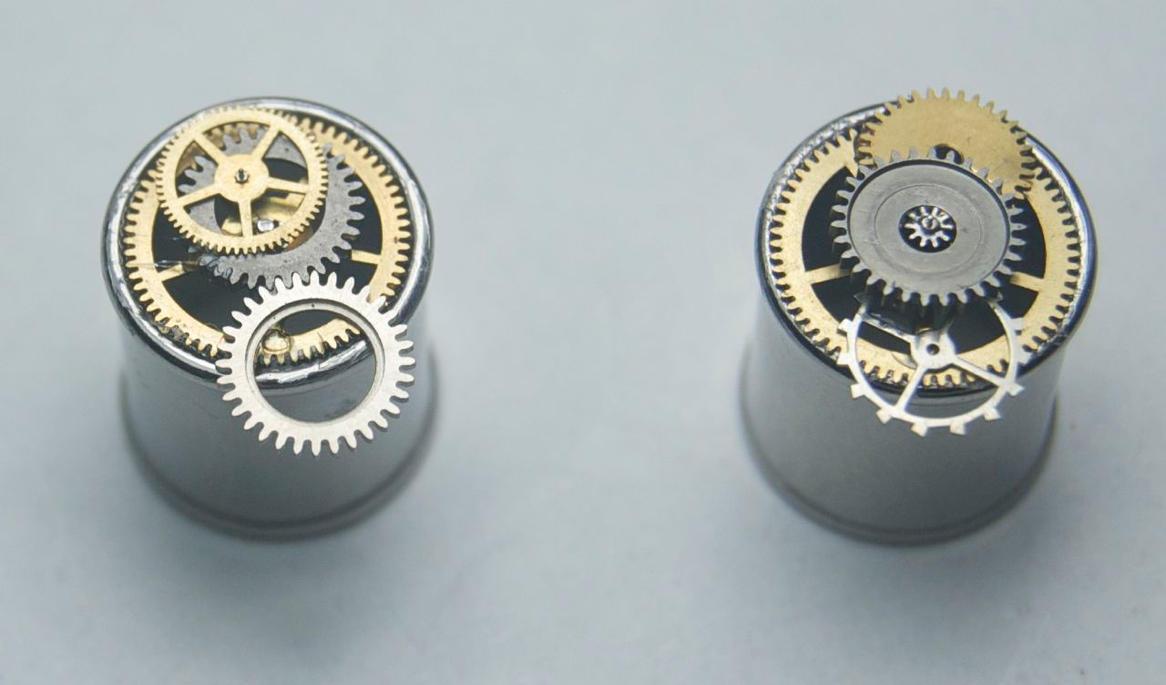 Steampunk earrings by Phoenix-Cry