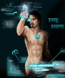 Stripped Down: Tony Stark by Phoenix-Cry