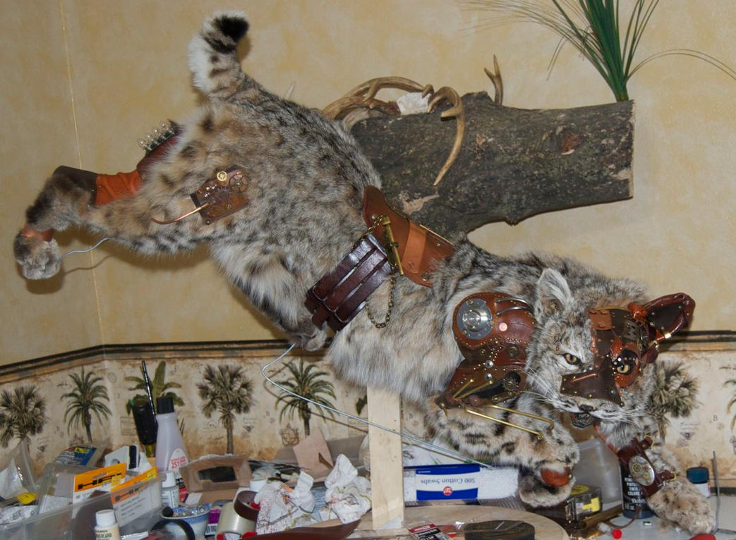 Steampunk Bobcat WIP X by Phoenix-Cry