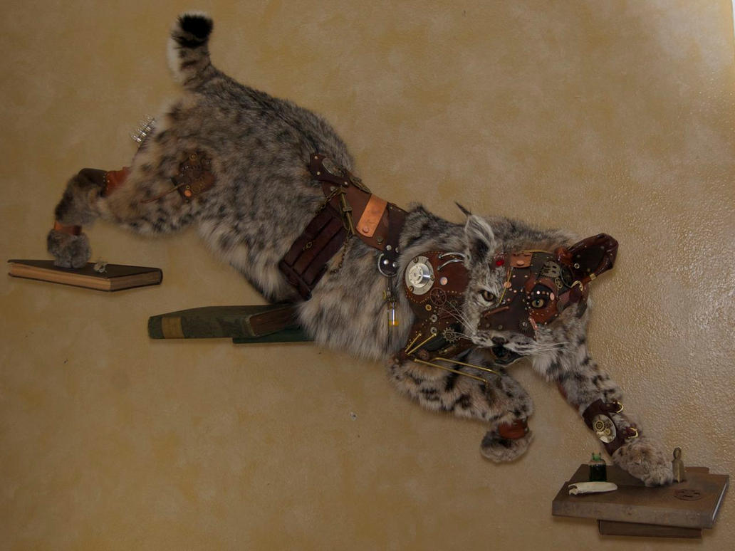 Steampunk Bobcat by Phoenix-Cry