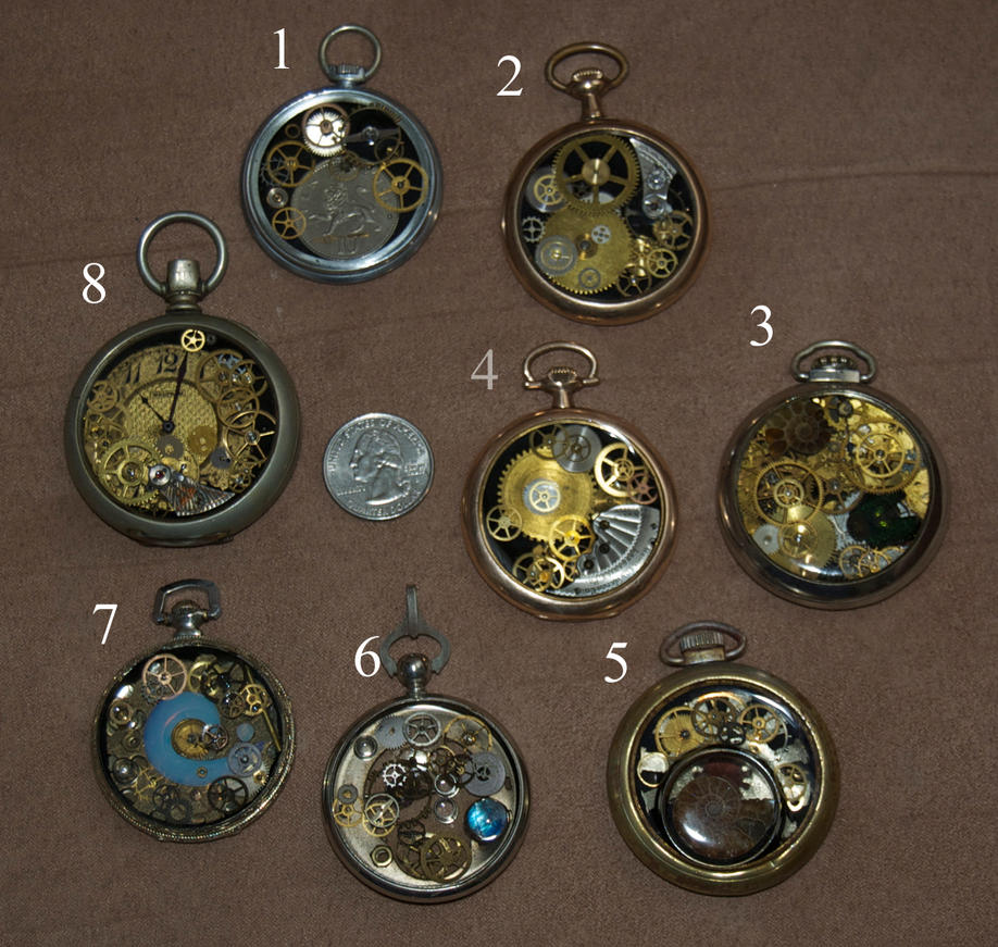 Steampunk pocket watch pendants for sale by phoenix cry on deviantart steampunk pocket watch pendants for sale by phoenix cry mozeypictures Gallery