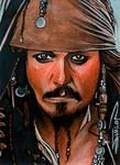 Captain Jack Sketch Card 2
