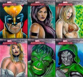 Marvel Masterpieces 3 AP Set by RandySiplon