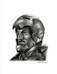 Iron Man 2 Portrait by RandySiplon