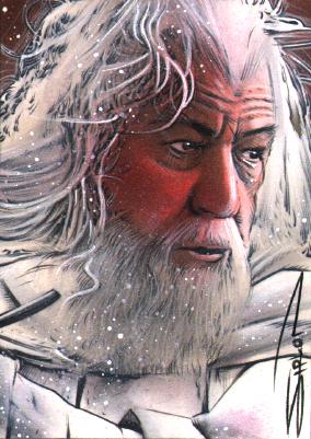 Gandalf Sketch Card 2 by RandySiplon