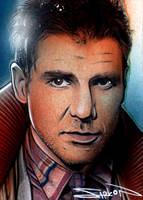 Blade Runner Sketch Card by RandySiplon