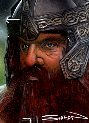 Gimli Sketch Card 2 by RandySiplon