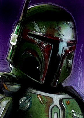 Boba Fett Sketch Card 3 by RandySiplon