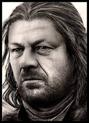 Eddard Stark Sketch Card 2 by RandySiplon