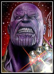 Thanos Sketch Card by RandySiplon