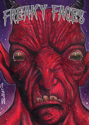Freaky Faces Devil Card