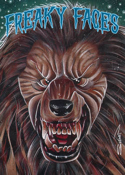 Freaky Faces Werewolf Card