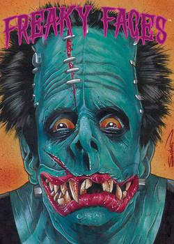 Freaky Faces Frankenstein Card