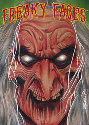 Freaky Faces Witch Card