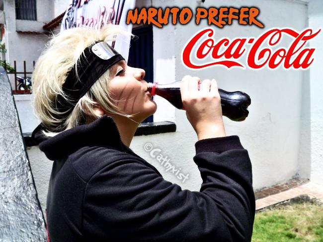 Naruto Prefer Coca-Cola by Cathyxist