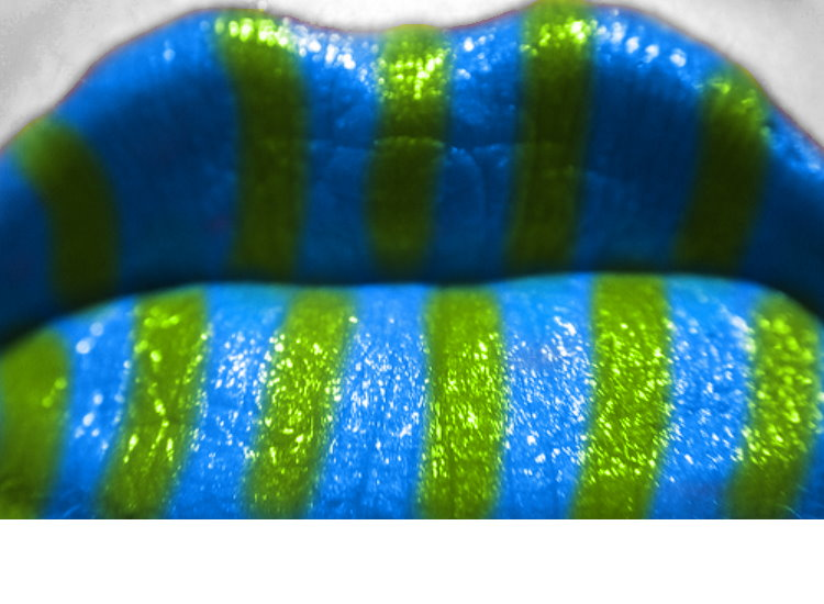blue and green lips by qwerty5678