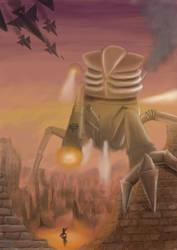Sci-fi robot by BleedingHearts37